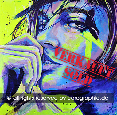 Original, art, carographic, paintings, malerei, cottbus, germany, Frauen, female, gesichter, portraits