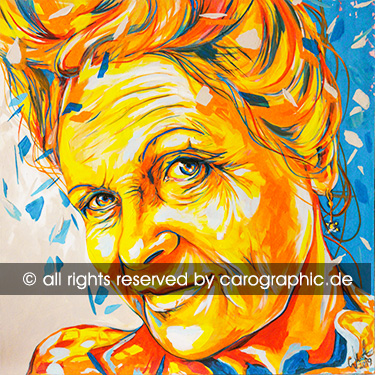 Original, art, carographic, paintings, malerei, cottbus, Vivienne Westwood, Westwood, Designer, orange, acrylic painting, gesichter, portraits