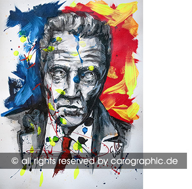 Original, art, carographic, paintings, malerei, cottbus, germany, Christopher Walken, hollywood, Schauspieler, Ozarks, gesichter, portraits
