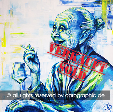 Original, art, carographic, paintings, malerei, cottbus, germany, granny, happyend