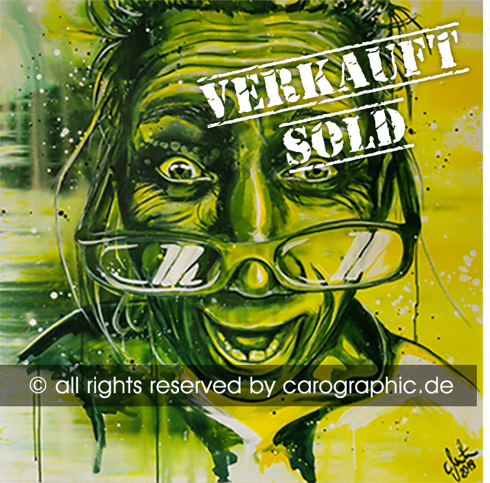Original, art, carographic, paintings, malerei, cottbus, green, granny, gesichter, portraits