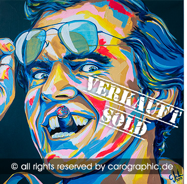 Original, art, carographic, paintings, malerei, cottbus, germany, Jack Nicholson, Hollywood, Schauspieler, gesichter, portraits