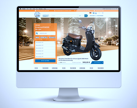 Template Design, Shop motorroller, grafik, carographic