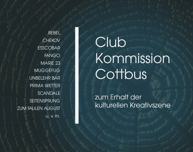 Layout, Subkultur, Club Kommission Cottbus, grafik, Hilfsinitiative, Cottbus, Corona, Covid_19, carographic