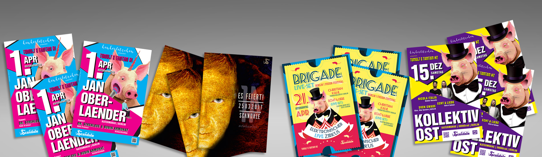 carographic Party event scandale cottbus grafik gestaltung layout
